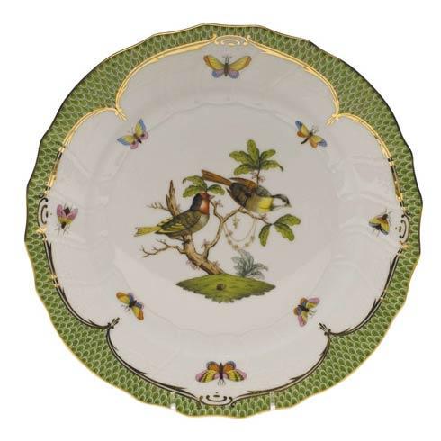 Herend Rothschild Bird Green Border Dinner Plate - Motif 11 $475.00