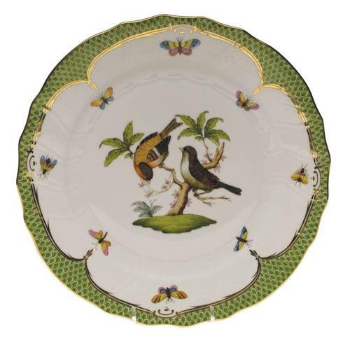 Herend Rothschild Bird Green Border Dinner Plate - Motif 12 $475.00