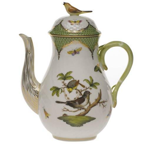 Herend Collections Rothschild Bird Green Border Coffee Pot W/Bird $825.00