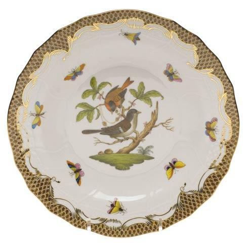 Herend Collections Rothschild Bird Brown Border Dessert Plate - Motif 04 $385.00