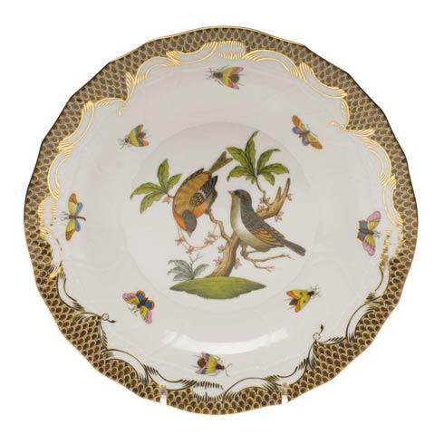 Herend Collections Rothschild Bird Brown Border Dessert Plate - Motif 12 $385.00
