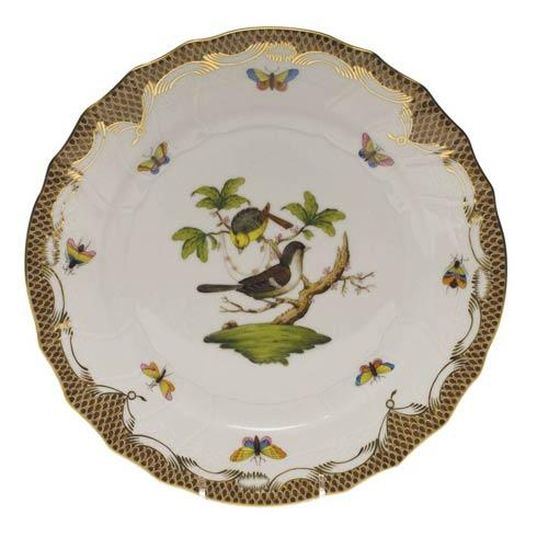 Herend Collections Rothschild Bird Brown Border Dinner Plate - Motif 01 $475.00