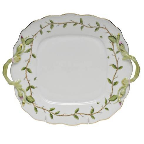 $415.00 Square Cake Plate W/Handles