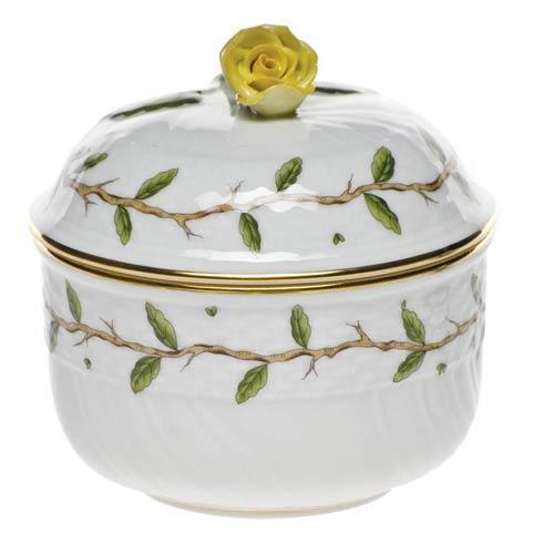 Herend  Rothschild Garden Cov Sugar W/Rose $175.00