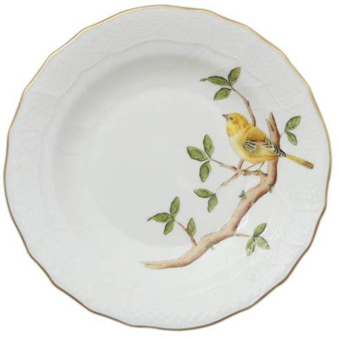 Herend  Song Bird Dessert Plate - Warbler $165.00