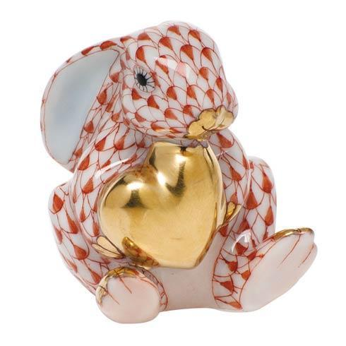 $295.00 Bunny with Heart - Rust
