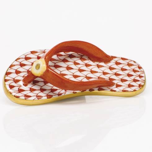 $175.00 Flip Flop - Rust