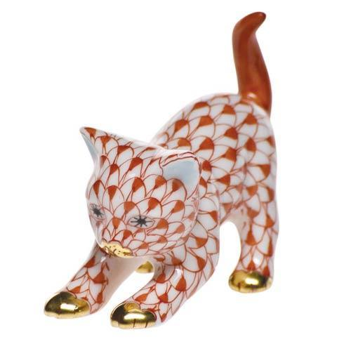 Herend Figurines Cats Stretching Kitty $200.00
