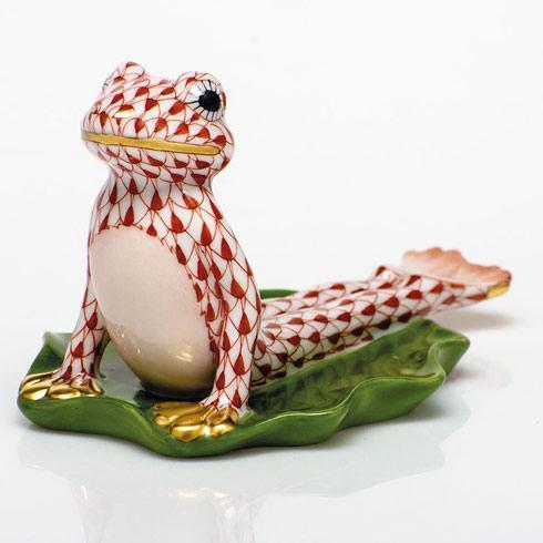 Yoga Frog in Cobra Pose - Rust