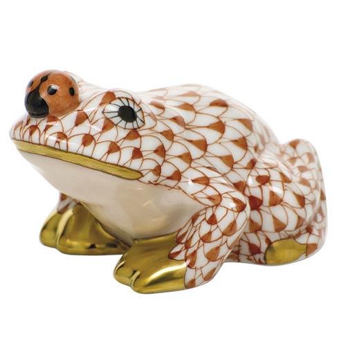 $325.00 Frog with ladybug - Rust