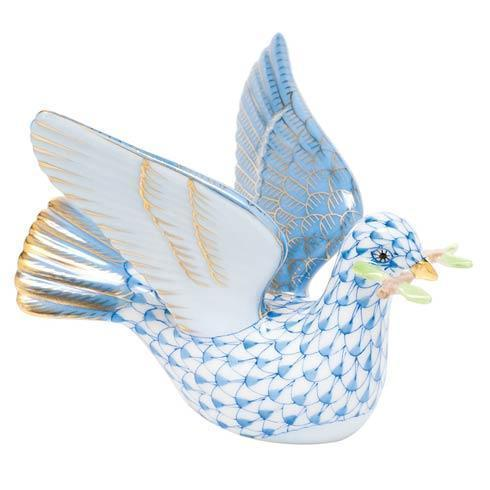Peace Dove with Branch - Blue