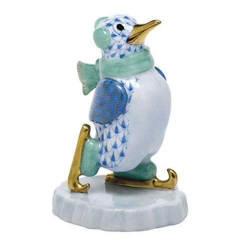 $350.00 Ice Skating Penguin - Blue