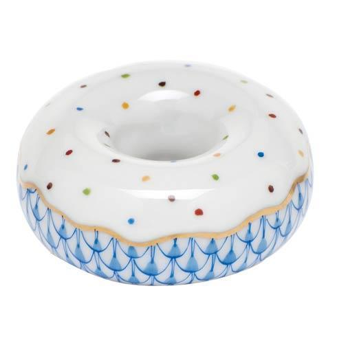 Herend Figurine's Miscellaneous Donut - Blue $135.00