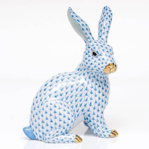 Large Sitting Bunny - Blue image
