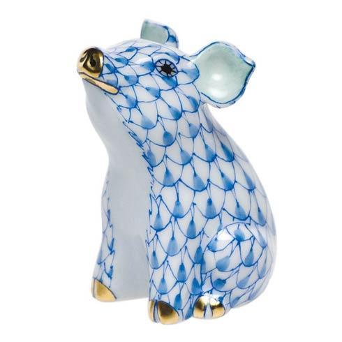 Herend Figurines Pigs Little Pig Sitting $165.00