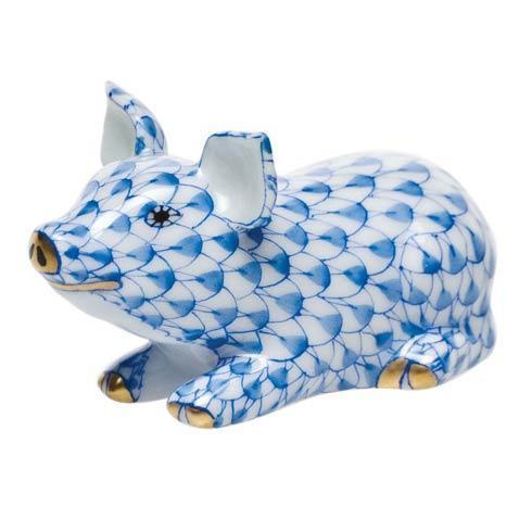 Herend Figurines Pigs Little Pig Lying $165.00