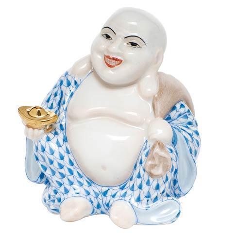 $350.00 Small Laughing Buddha - Blue