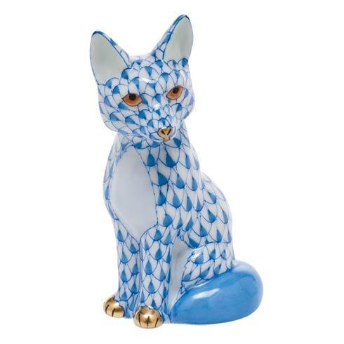 Sitting Fox - Blue