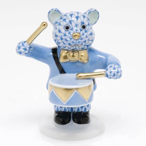 $375.00 Little Drummer Bear - Blue
