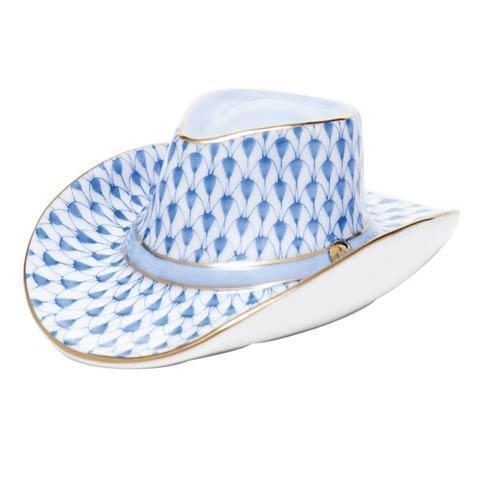 Herend Figurine's Miscellaneous Cowboy Hat - Blue $195.00