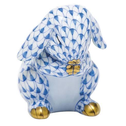 Herend Figurines Bunnies Praying Bunny - Blue $235.00