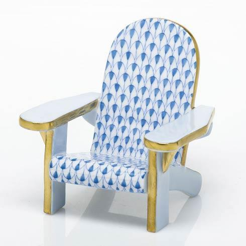 Herend Figurines Miscellaneous Adirondack Chair - Blue $295.00