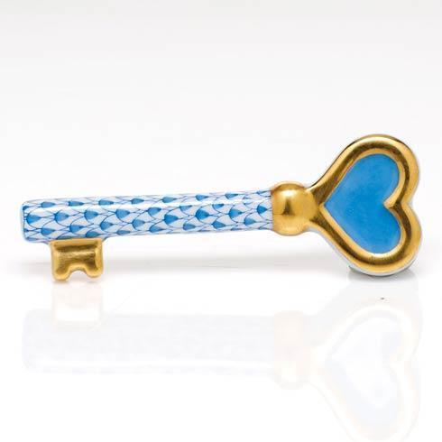 Herend Figurines Miscellaneous Key to My Heart - Blue $195.00