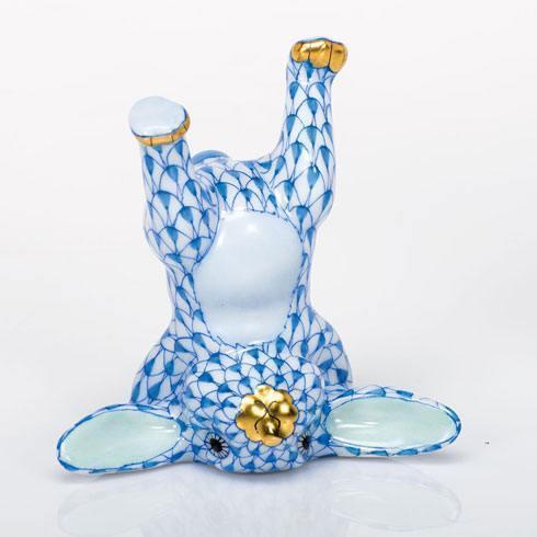 Handstand Bunny - Blue