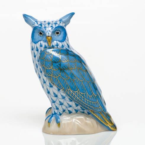 $325.00 Great Horned Owl - Blue