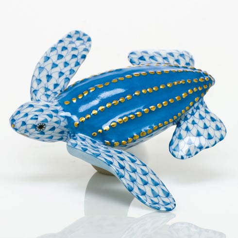 $350.00 Young Leatherback Turtle - Blue