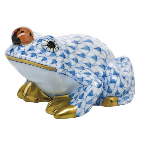 $325.00 Frog with ladybug - Blue