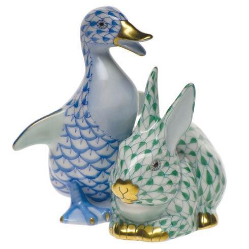 Duckling & Bunny - Blu & Grn