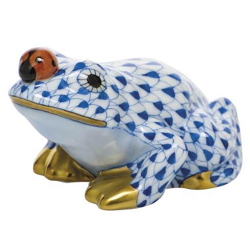 $325 Frog with ladybug - Sapphire