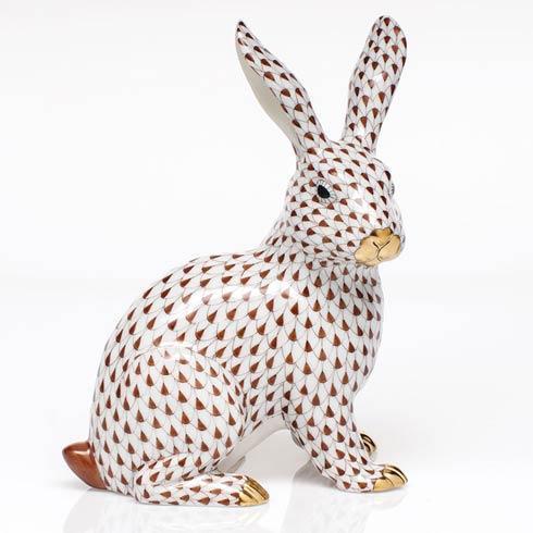 Large Sitting Bunny - Chocolate