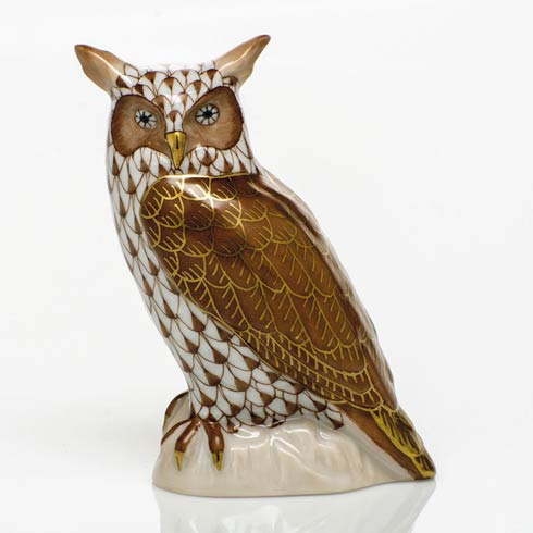 $325.00 Great Horned Owl - Chocolate