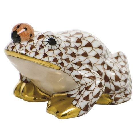 $325 Frog with ladybug - Chocolate