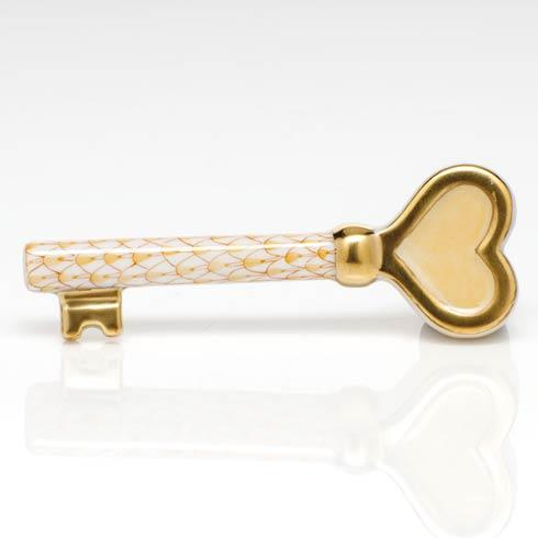 Herend Figurines Miscellaneous Key to My Heart - Butterscotch $195.00