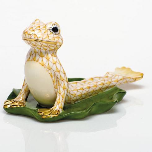 Yoga Frog in Cobra Pose - Butterscotch