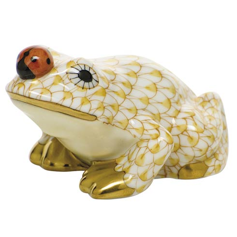 $325 Frog with ladybug - Butterscotch
