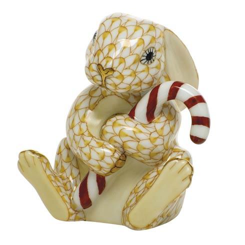 $395.00 Candy Cane Bunny-Butterscotch