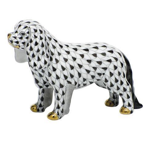 Herend Figurines Dogs Cavalier King Charles Spaniel - Black $295.00