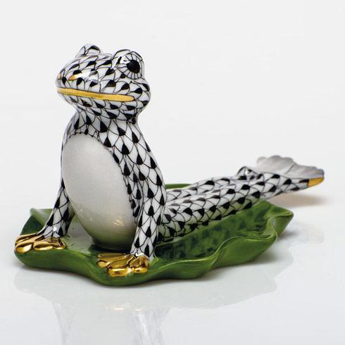 $395.00 Yoga Frog in Cobra Pose - Black