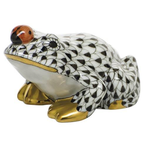 $325.00 Frog with ladybug - Black