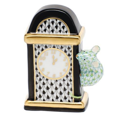 Herend Figurines Rodents Hickory Dickory Dock - Multicolor $325.00