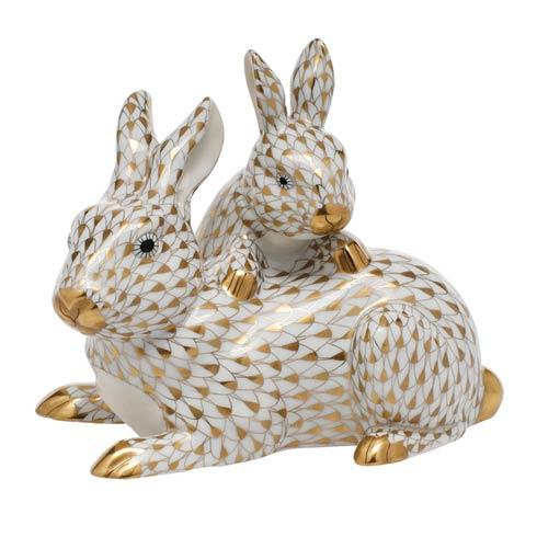 $995.00 Mother & Baby Bunny - Gold