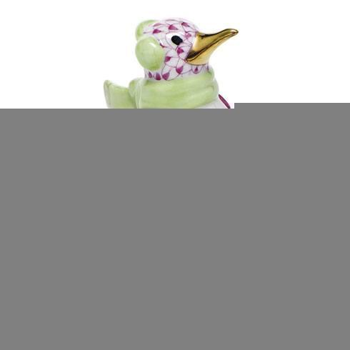 $350.00 Ice Skating Penguin - Raspberry
