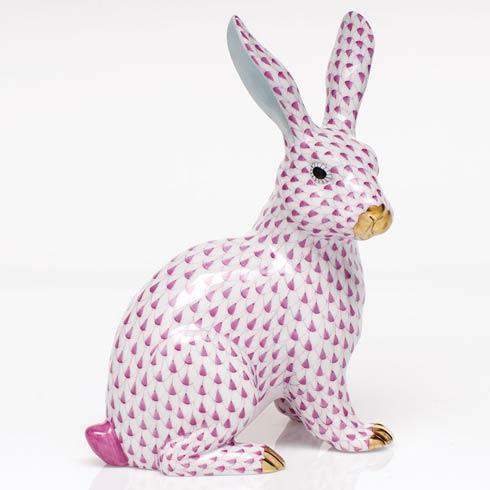 $835.00 Large Sitting Bunny - Raspberry