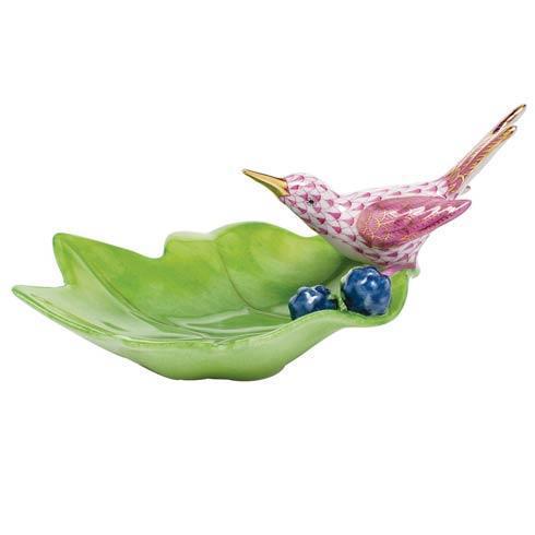 $350.00 Hummingbird on Leaf - Raspberry