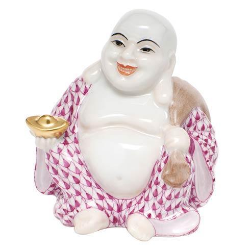 $350.00 Small Laughing Buddha - Raspberry