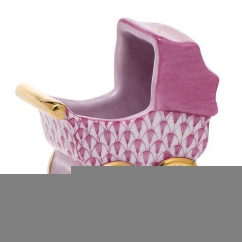 Herend Figurine's Miscellaneous Baby Carriage - Raspberry $295.00